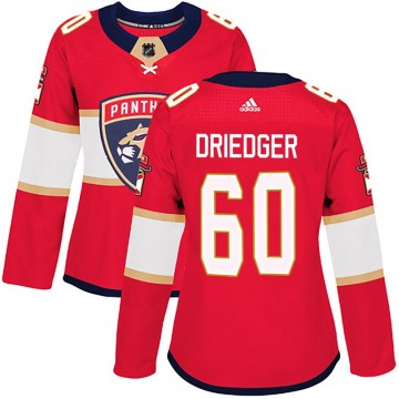 Authentic Adidas Women's Chris Driedger Florida Panthers Home Jersey - Red