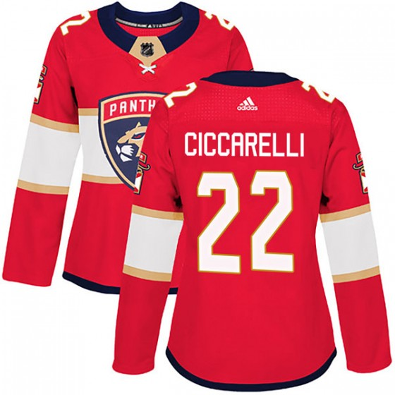 Authentic Adidas Women's Dino Ciccarelli Florida Panthers Home Jersey - Red