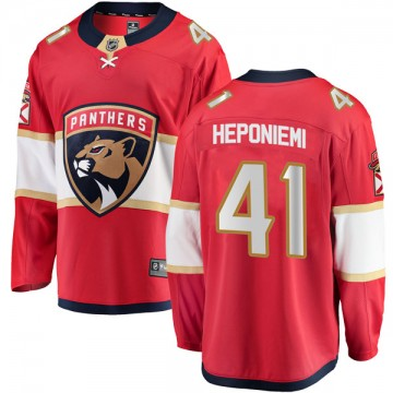 Breakaway Fanatics Branded Youth Aleksi Heponiemi Florida Panthers Home Jersey - Red